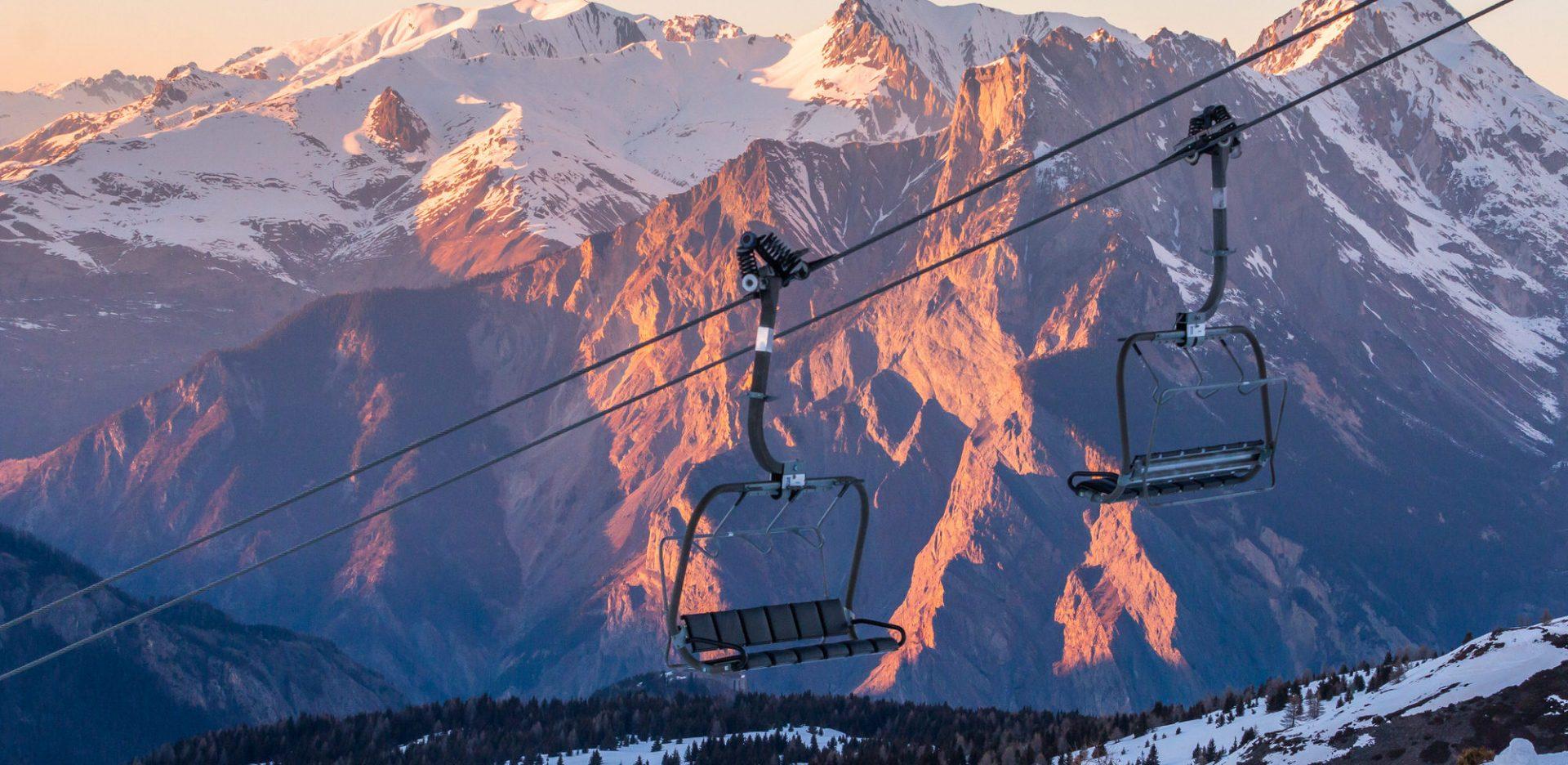 Télésiège du domaine skiable de valloire
