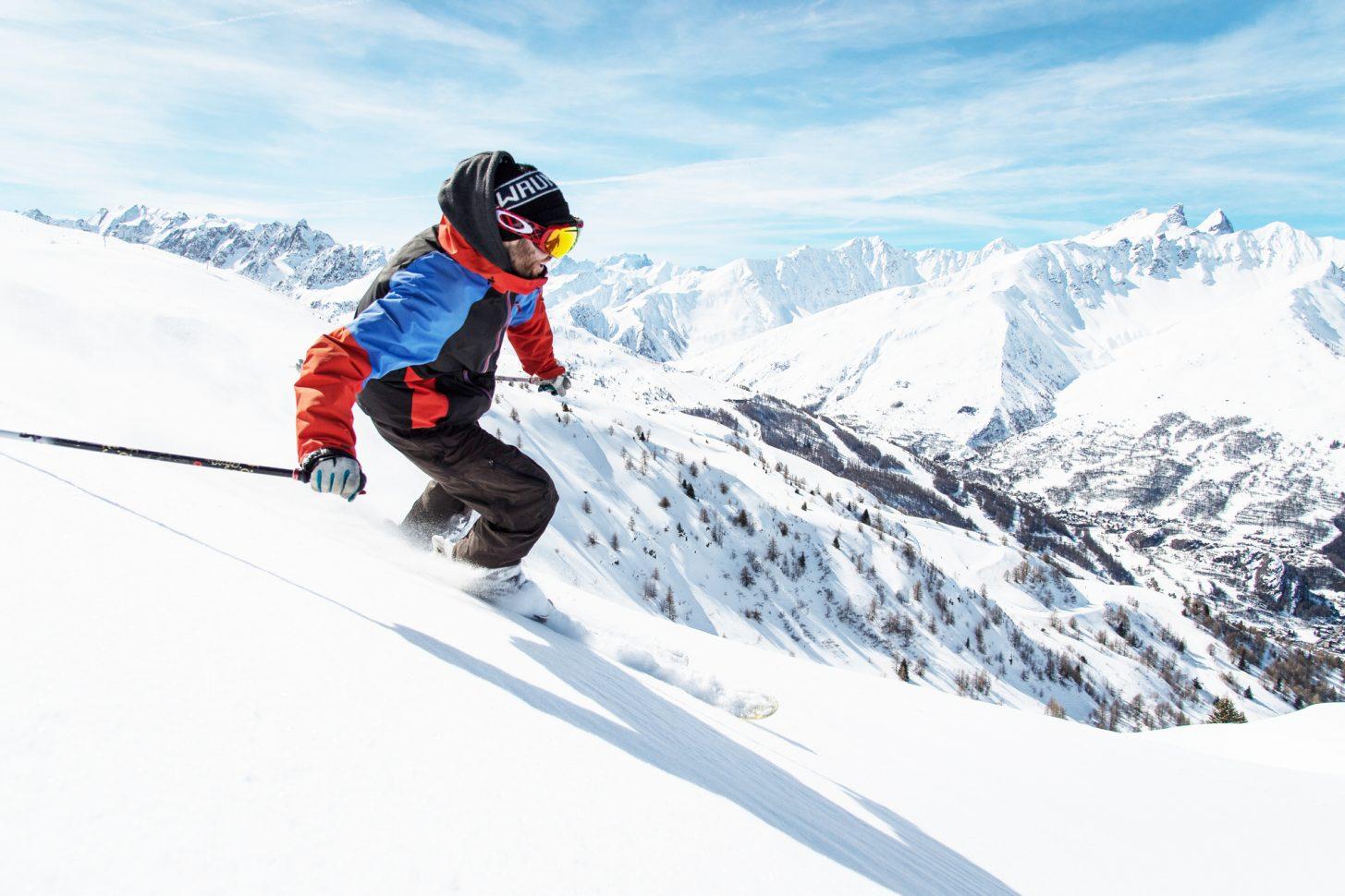 Ski sur le domaine skiable Galibier-Thabor à Valloire