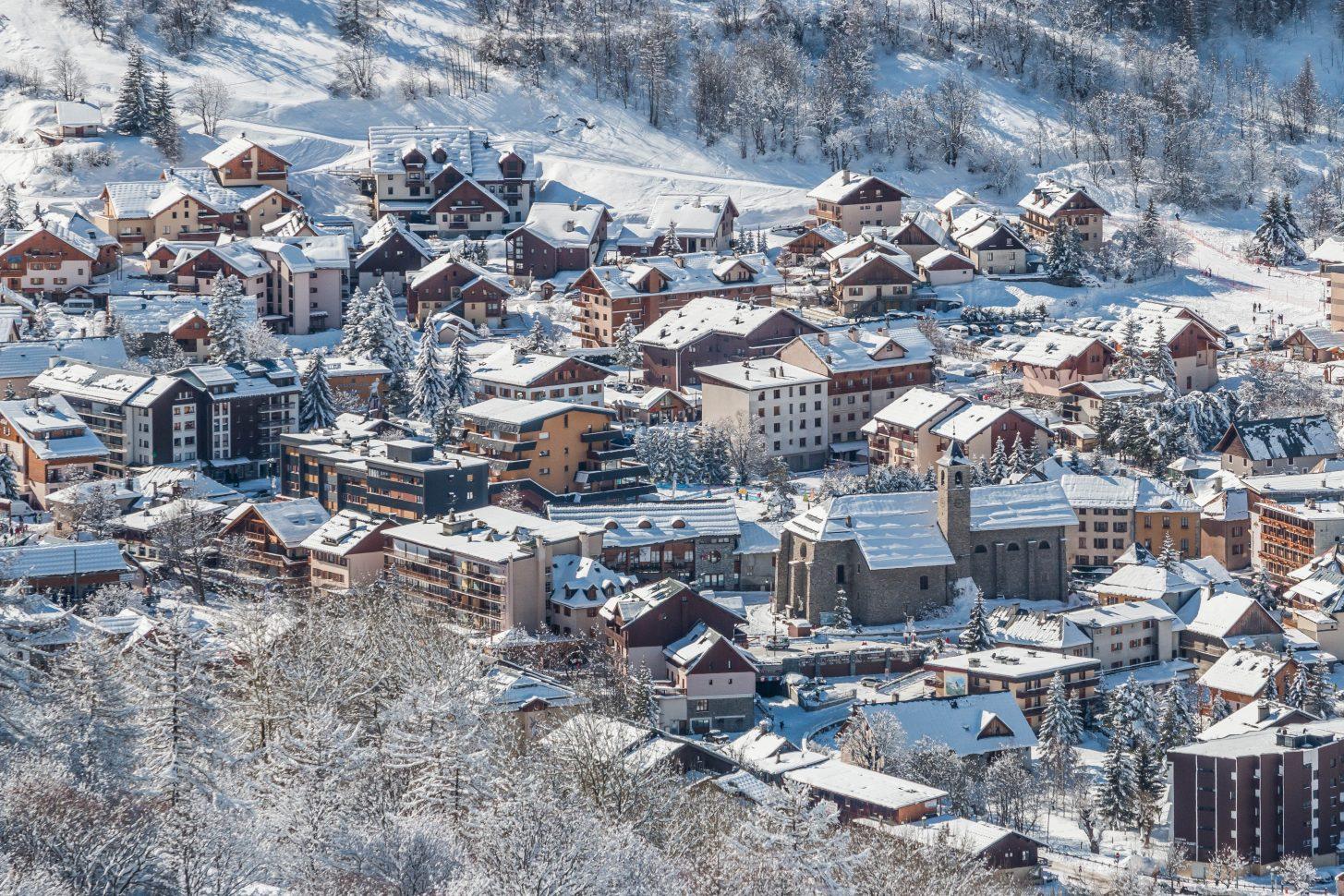 Valloire - village station situé à 1430 m d'altitude